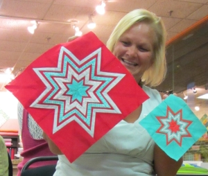 July Paper Piecing Kaleidoscope Star